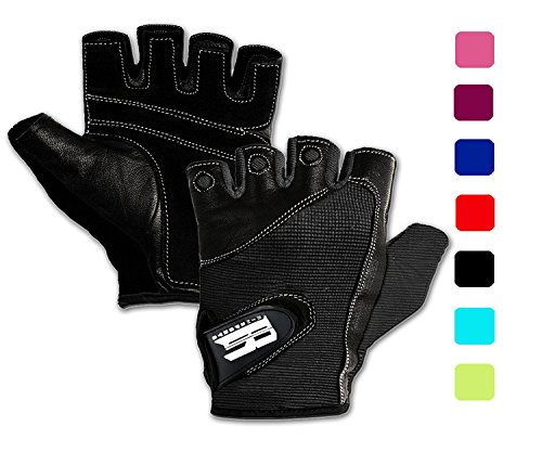 RIMSports Gym Gloves for Powerlifting, Weight Training, Biking, Cycling - Premium Quality Weights Lifting Gloves Workout Gloves w/Washable for Callus and Blister Protection