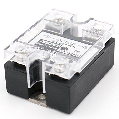 Heschen SSR-100DD 1-Phasen-Wechselrelais SSR-100DD 3–32 VDC/24–220 VDC, 100 A