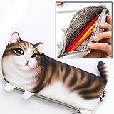 持ち運びが簡単 シミュレーション三脚猫ポータブル文具化粧品袋の高品質猫スタイルバージョン、サイズ:22x10.5cm (Color : Color4)