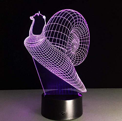 Lámpara De Mesa Táctil Led Con Luz Nocturna Visual De Concha De Caracol 3D, Altavoz Bluetooth Usb Para Decoración Del Hogar, Regalo Para Niños