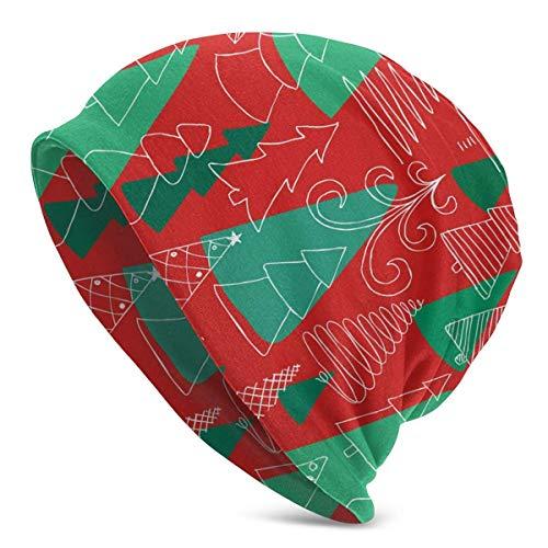 Schädelkappe Skizze Weihnachtsbaum Feinstrickmütze Tägliche Mütze Warme weiche Hüte Druck Wintermütze