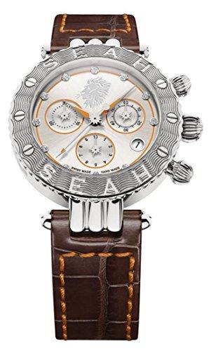 SEAH Galaxy símbolo del Signo Leo edición Limitada 38mm Silver-Tone Reloj Fabricado en Suiza.