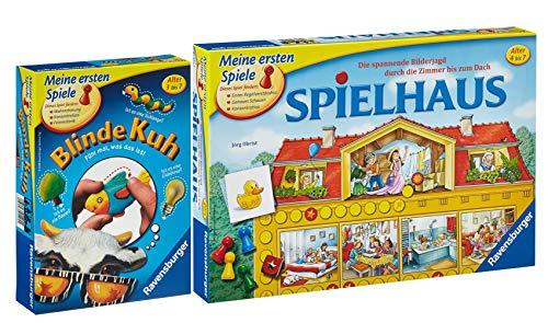 rav Ravensburger Meine ersten Spiele Set: 21424 - Spielhaus + 21404 - Blinde Kuh, 4 - 8 Jahre