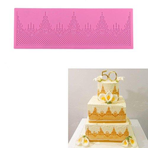 Cake Design Ricami In Pizzo Merletto,Delaman Stampo Silicone Retro Reticolar Decorazione Per Torta Fondente Pasta Di Zucchero Cioccolato Pasticceria Stencil