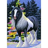 Diamond Painting Kits for Adults & Kids,DIY 5D Diamond Art Kits,Round Diamond Painting Kit Horse Animal ,Home Wall Decor,Parent-Child Toy Fun Gift(12x16inch)