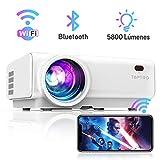 Proyector WiFi, TOPTRO 5800 Lúmenes Bluetooth Mini Proyector Portátil Soporte Video 1080P , Proyectores Cine en Casa,...