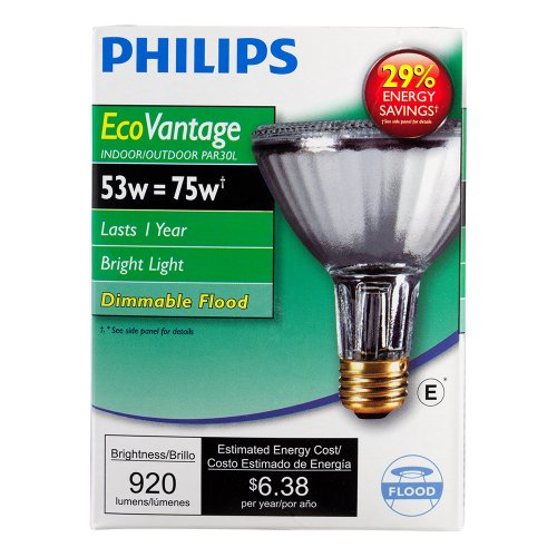 Philips 419549 Halogen PAR30L 75 Watt Equivalent 25 Degree Flood Light Bulb