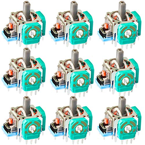 SUNNLOO Analog 3D Joystick Thumbstick Controller Rocker Replacement for Playstation 4 PS4 Xbox one (10 Pack)