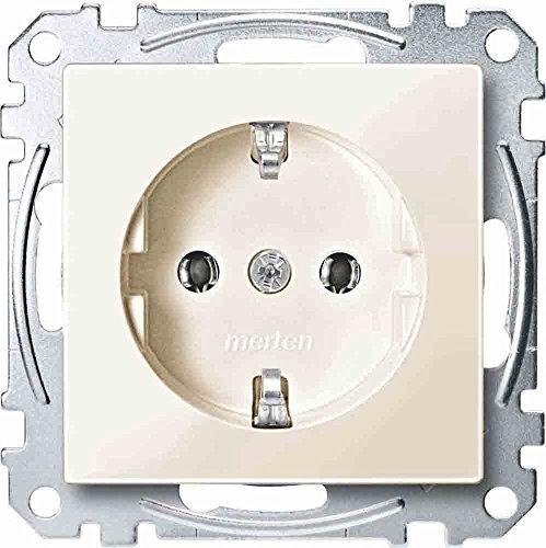 Merten Schuko-stopcontact stekkerklemmen, systeem M, wit glanzend, MEG2301-0344 3x Steckdose System M