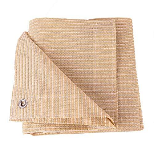 Chihen Sonnenschutz Net Outdoor Windproof Sonnenschutz Landwirtschaft Sonnenschutz Verschlüsselung Outdoor 17 Größe, Unterstützung Anpassung (Color : Beige, Size : 2x2m)