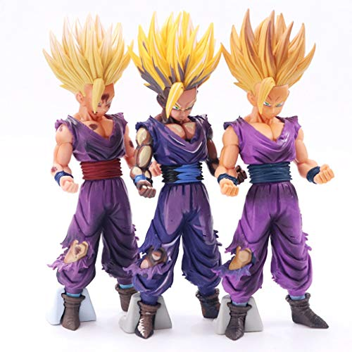 QI-shanping Dragon Ball Super Saiyan MSP Gohan Dragon Ball Z Kultur Son Gohan Action Figure Spielzeug (Tricolor Anzug Suit