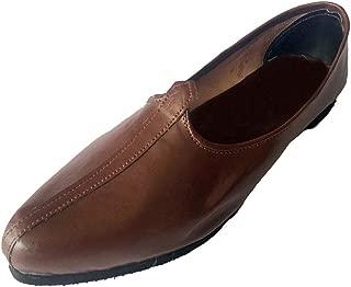 Men's Brown Khussa Shoes Punjabi Jutti Ethnic Mojari Handmade Jalsa Nagra Shoes