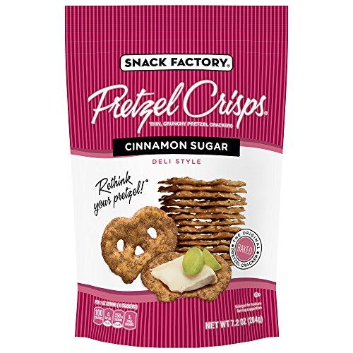 Snack Factory Pretzel Crisps Cinnamon Sugar, 7.2 Ounce (Pack of 12)