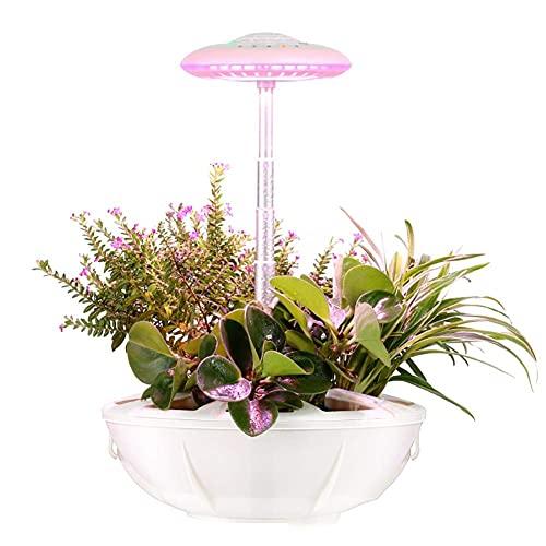 ZHANGDA Beleuchtung Smart Hydroponics Gartenleuchten, LED Plant Grow Light, Gartenset mit Schreibtischlampenfunktion, Indoor Hydroponics Growing System Garden, Beige