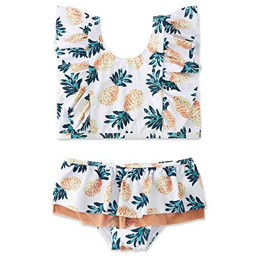 Huihong Mädchen Badeanzug Bikini,Ananasdruck Kindere Zweiteiliger Bademode Verstellbarer Schultergurt, UV-Schutz...
