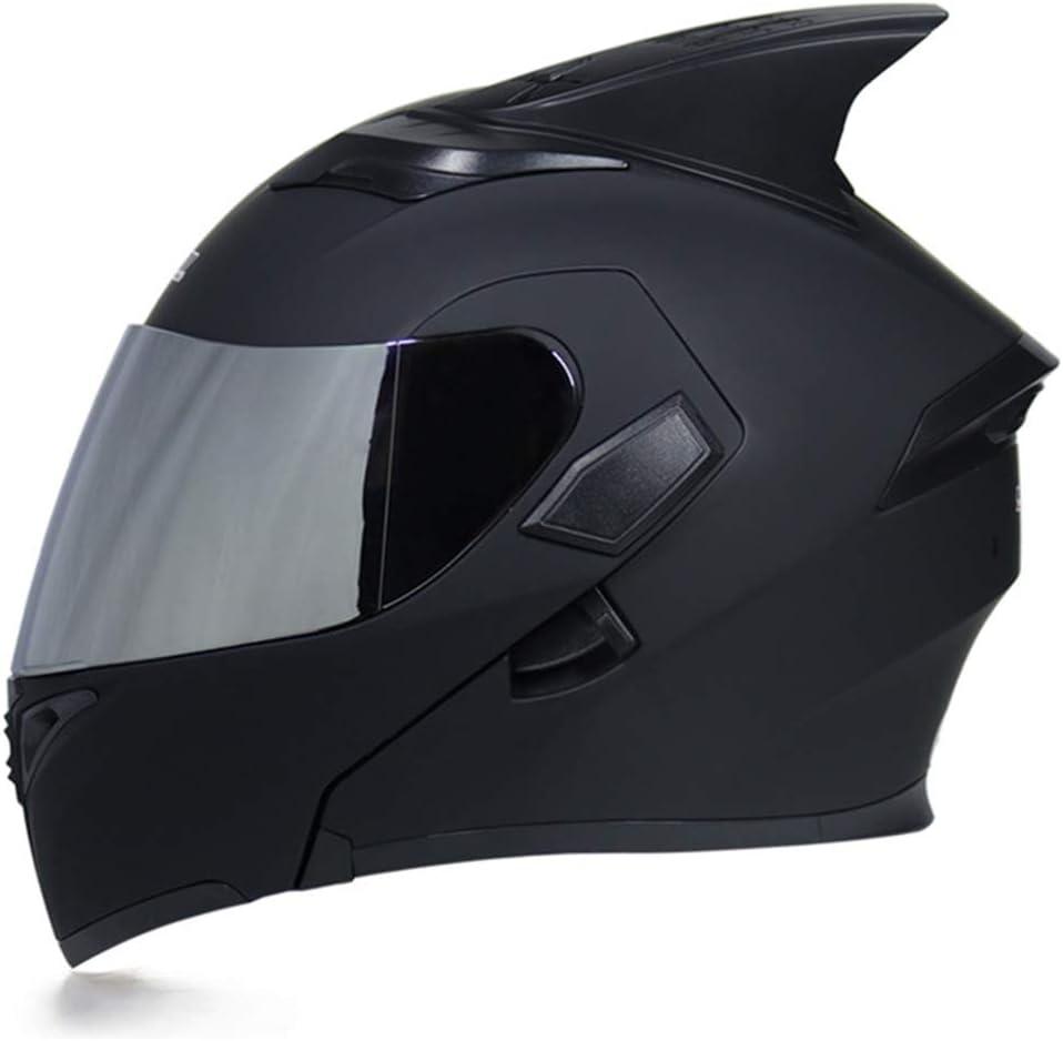 Motorradhelm Full Face Helme Flippen Hai Flosse Für Modular Moto Helm With Innere Sonnenblende Sicherheit Double Linsen Rennen Sport Freizeit