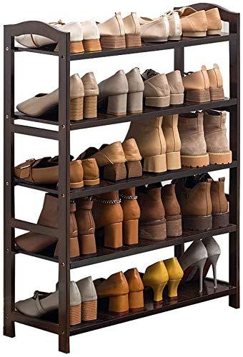 Pasteleras de zapatos El estante de zapatos de múltiples capas de bambú tiene capacidad para varios pares de zapatos y es ideal para el estante del organizador del pasillo ideal para el pasillo, sala
