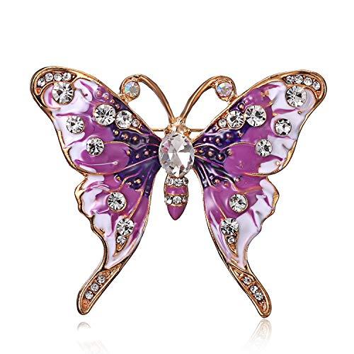 YUEMING Broche de Mariposa ,Broche, Broche Retro Mariposa,Broche y Pin Broches para Ropa Mujer (Purple)