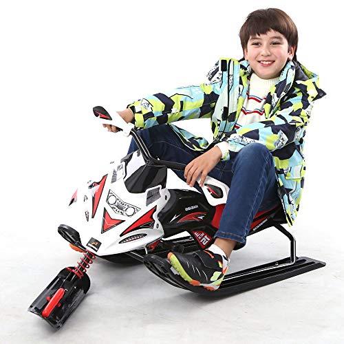 Sunzy Racer Neve, Giocattolo di Sci per Bambini, di Tipo motociclistico Sci con Volante e Freni per i Bambini e Gli Adulti Oltre 6 Anni