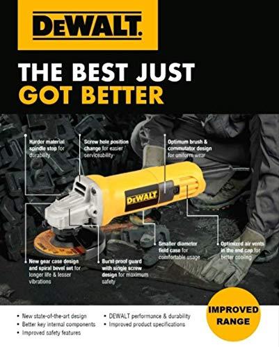 Dewalt DW801 850W 4 Yellow Plastic Angle Grinder