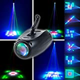 CO-Z Pattern Stage Light RGBW 64 LEDs Auto and Voice-activated DJ Effect Projector Lighting for Shows DJ Dance Party Wedding Uplighting