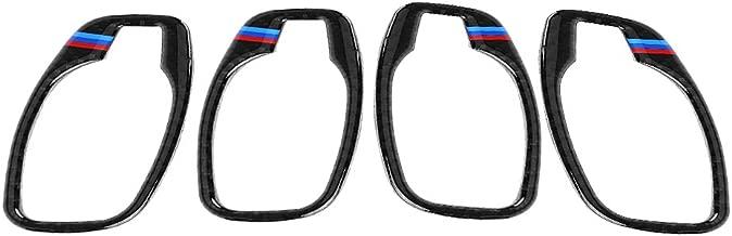 4pcs Carbon Fiber Car Door Handle Frame Cover Trim Sticker Accessory for BMW 5 Series E60 2006-2010(B)