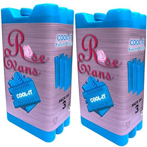 Nieuwe vriesblokken - Geschikt voor koelboxen & tassen - Koelt & houdt voedsel vers - in verpakkingen van 3/6 (Pack van 6)