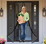Reinforced Magnetic Screen Door - Many Sizes and Colors to Fit Your Door Exactly - US Military Approved - with Full Frame Hook and Loop Fasteners to Ensure All Bugs are Kept Out - Tough and Durable