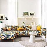 PPOS Funda de sofá Moderna con Todo Incluido Spandex Stretch Poliéster Flor Funda de sofá Silla Sala de Estar Sofá de Esquina Cove D9 1seat 90-140cm-1pc