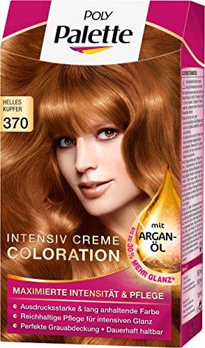 Poly Palette Intensiv Creme Coloration, 370 helles kupfer stufe 3, 3er Pack (3 x 1 Stück)