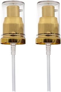 2Pack Foundation Pump for Estee Lauder Double Wear Foundation, MAC Studio Fix Fluid Foundation, etc.(Gold)