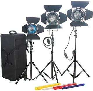 Came-TV Fresnel Tungsten Video Spot Lights, 2x 1000W & 1x 650W