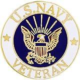 United States Navy USN Veteran Logo Seal 1' Lapel Pin (USN Veteran)