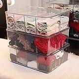 Aufbewahrungsbox Für Unterwäsche Mit Trimmer Zum Trennen Von BH, Slip, Socken, Krawatten, Schals Und Jeglichem Zubehör