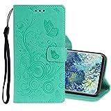 MDYHMC YXCY AYDD per Samsung Galaxy A31 Stampato Stampa a Farfalla Modello a Flip Orizzontale in Pelle Flip con Supporto e Slot per schede (Color : Green)