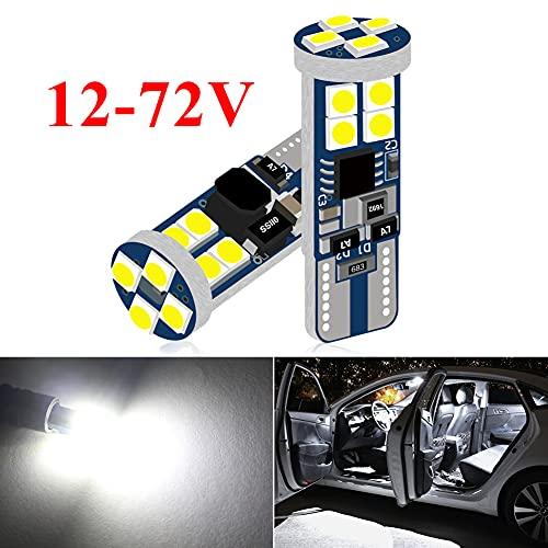 DuaBhoi 12-72V 194 LED Bulb 168 T10 W5W 2825 Universal Super Bright 3030smd for Car Motorcycle...