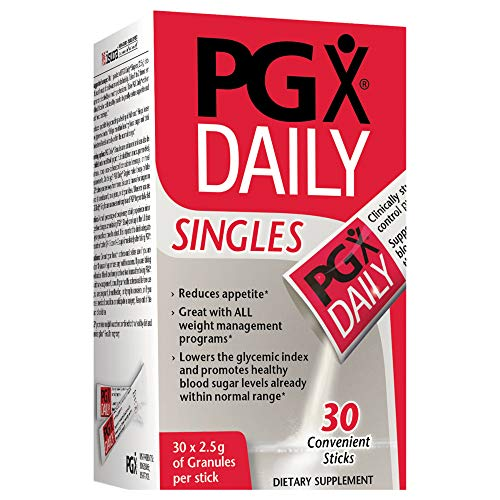 Natural Factors - PGX Daily Singles, Convenient Support for Weight Goals and Appetite Control, 2.5 g of Granules per Stick, 30 Packets