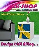 Aufkleber für IKEA Malm Kommode 40x55cm Flagge Schweden