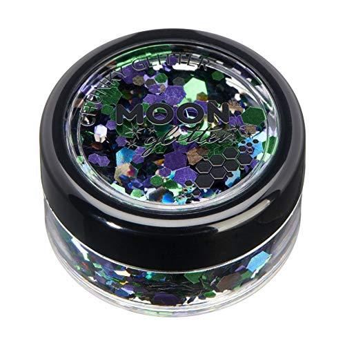 Mystique Brillant épais par Moon Glitter – 100% de paillettes cosmétique pour le visage, le corps, les ongles, les cheveux et les lèvres - 3g - Galaxie