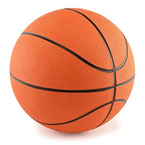 M & M Products Online 5 Inch Mini Rubber Basketball: 2 Pack of Youth Basketballs for Kids - Perfect Indoor Or Outdoor Junior Basketballs - Great for Mini Basketball Hoops and Pool Basketball Sets