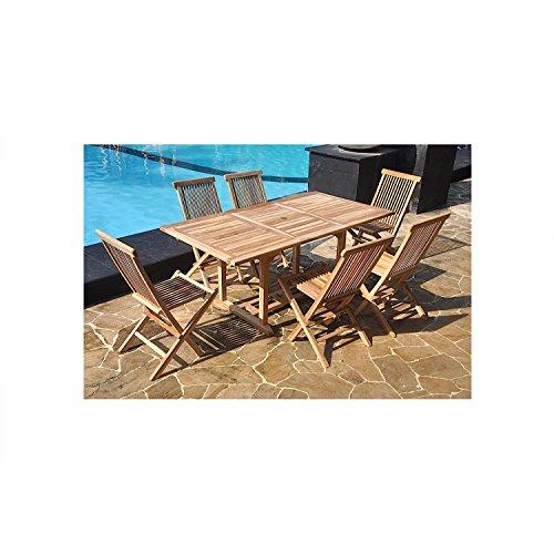 JFB Services Mein Fabrik teckrect6pb906C-dj die Taube-Lounge Garten Teak Braun 120x 90x 75cm