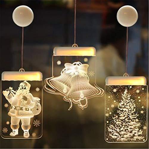 Mijogo kerstfeestdecoratie, 6 stuks feestdag 3D kerstman, kerstboom hangende slingers markeervlaggen - uitgangsdecoratie, feestdag, feestdecoratie van de nieuwe jaren