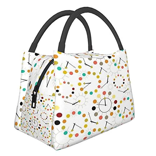 Bärbar isolerad väska dam tur M_i_dcentury modern barkcloth barkduk vintage Las Vegas ATO_mic geometriska stjärnor shoppingväskor för matvaror, mat, vikbar, tvättbar, multifunktionell