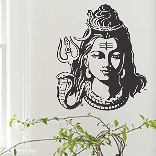 Tianpengyuanshuai Shiva Indien Hinduismus Religion Vinyl Aufkleber Home Decor Hinduismus Wanddekoration Abziehbilder Wallpaper Wandbild 40x32cm