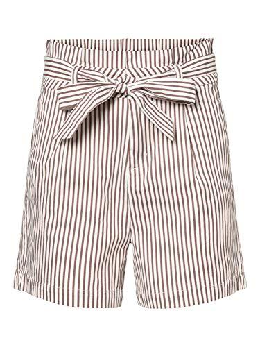 Vero Moda Vmeva HR Paperbag Cot PS Shorts Noos Ga Pantalones Cortos, Blanco como La Nieve, XL para Mujer