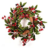 alapaste thanksgiving pine cones wreath decoration winter and christmas wreath fall front door