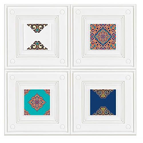 Wand-Aufkleber 3D Dado Wall Panel 3D Außenwandpaneele for schmutzige Wände TV Wand Sofa Hintergrund, Wohnzimmer Wände, Schlafzimmer Walls (Größe: 70x70cm) (Color : Pattern, Size : 5 Pack)
