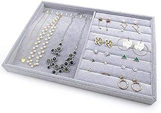 PuTwo Bandejas para Joyas 2 Secciones Lint gaveta Organizador Display Box Regalos de cumpleaños para Ella