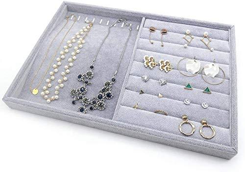 PuTwo Schmuckkasten Lint Schmuckaufbewahrung Schubladeneinsatz für Schmuck,Ohrringe,Armband,Ringe oder Uhr - 2 Fächer