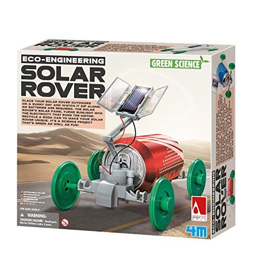 4M Green Science Solar Rover Kit DIY Solar Power, Eco-Engineering Stem Toys Educational Gift for Kids & Teens, Boys & Girls